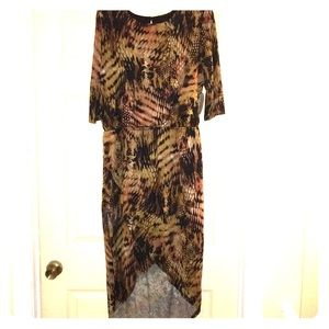 EMMA & MICHELE HIGH LOW DRESS. Sz L-XL NWT